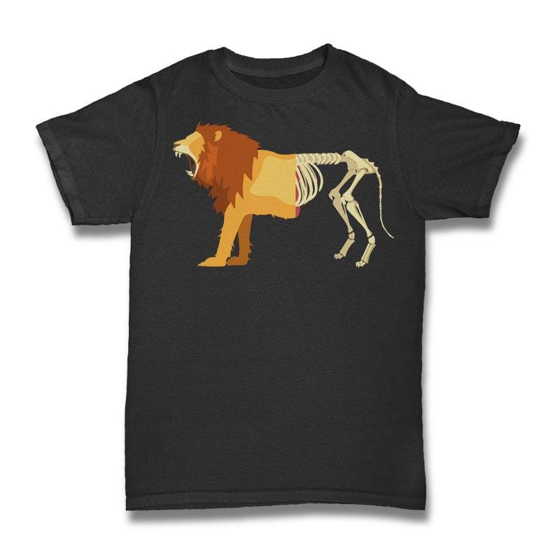 Lion Life Death Tshirt Design t shirt designs for sale
