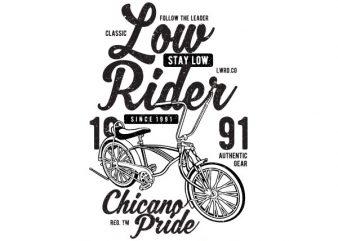 Low Rider Graphic t-shirt design