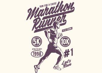Marathon Runner Graphic t-shirt design