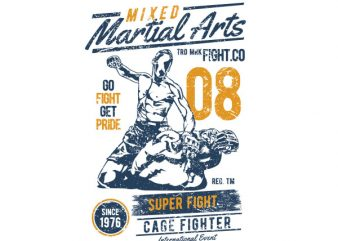 Mixed Martial Arts Graphic t-shirt design