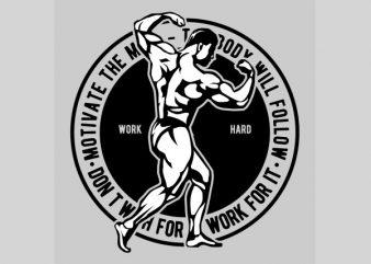 Motivate The Mind Graphic t-shirt design