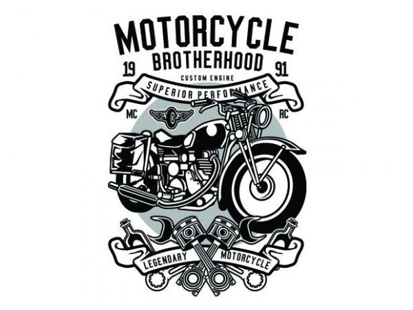 Motorcycle Brotherhood Tshirt Design