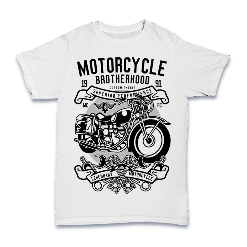 Motorcycle Brotherhood Tshirt Design t shirt design graphic