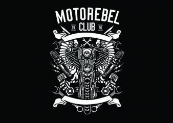 Motorebel Club Tshirt Design