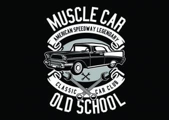 Muscle Car Tshirt Design