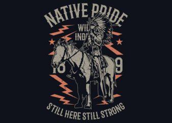 Native Pride Vector t-shirt design