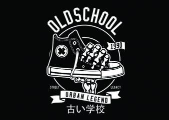 Old School Tshirt Design