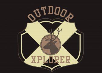 Outdoor Explorer t shirt design online