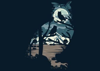 Owl Tshirt Design