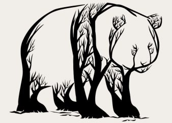 Panda Trees Tshirt Design