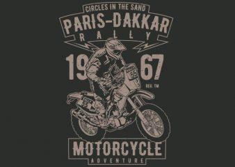 Paris Dakkar Rally Motorcycle Vector t-shirt design