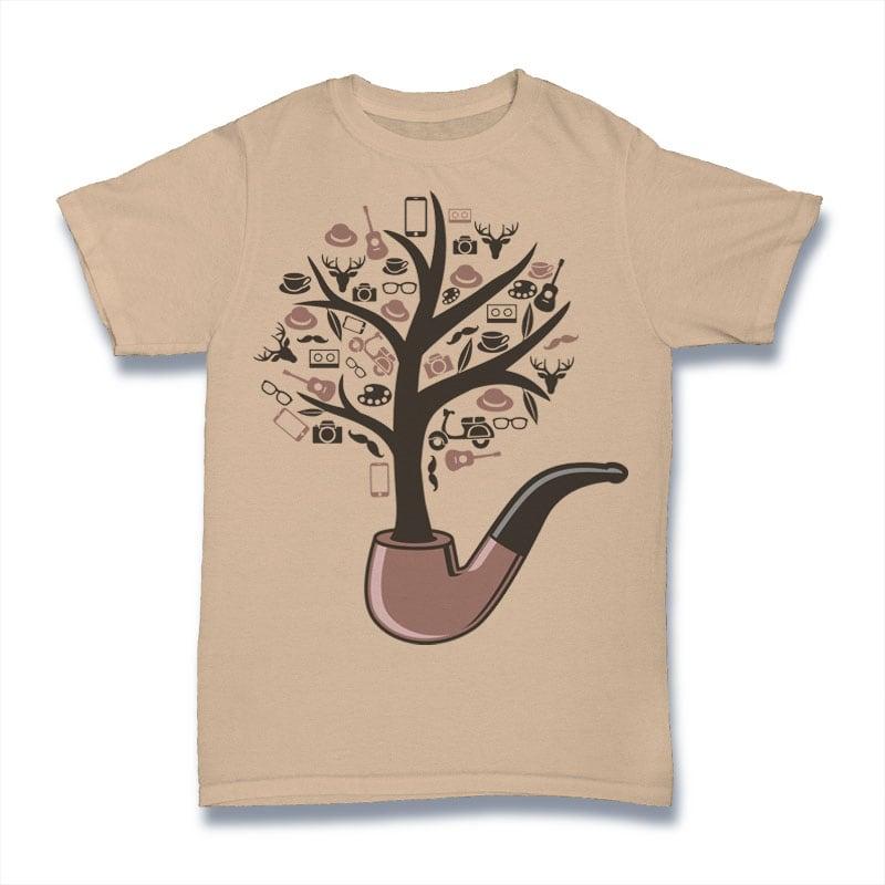 Pipe Tree Tshirt Design tshirt factory