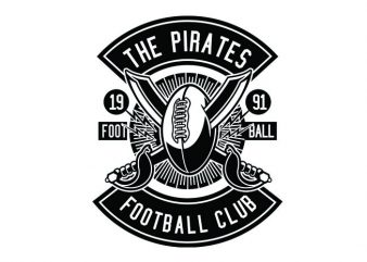 Pirates Football Tshirt Design