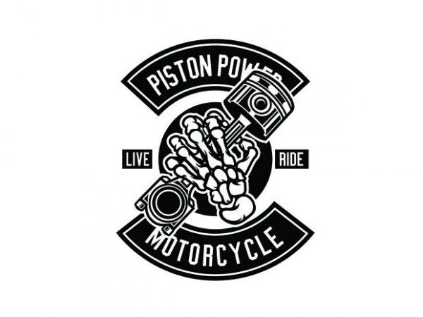 Piston Power Tshirt Design