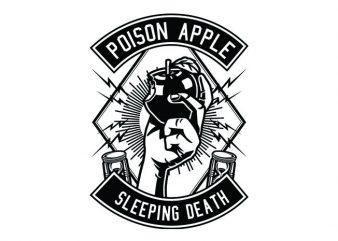 Poison Apple Tshirt Design