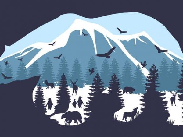 Pollar Bear Tshirt Design