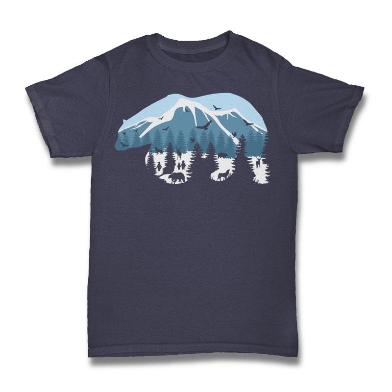 Pollar Bear Tshirt Design buy t shirt design