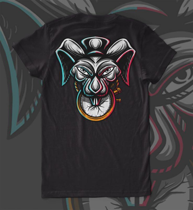 Magic Rabbit T-shirt Design vector shirt designs