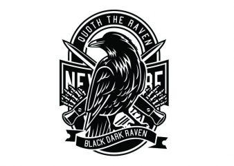 Raven Tshirt Design