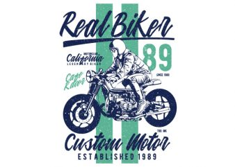 Real Biker Vector t-shirt design