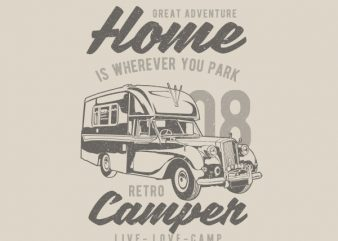 Retro Campers Vector t-shirt design