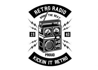 Retro Radio Tshirt Design
