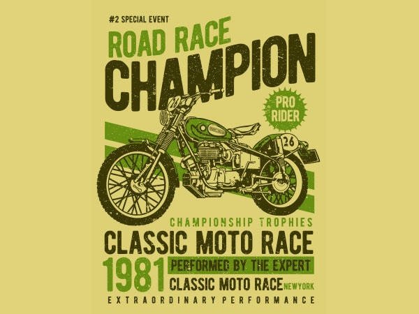 Road Race Champion Vector t-shirt design