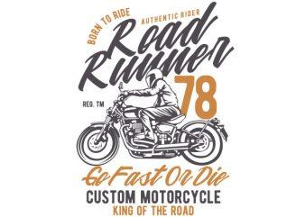 Road Runner Vector t-shirt design