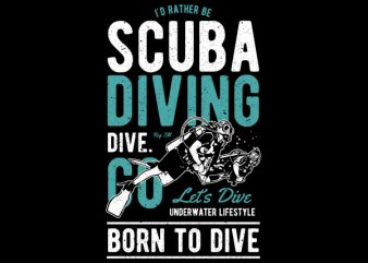 Scuba Diving Vector t-shirt design