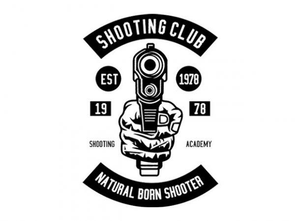 Shooting Club Tshirt Design