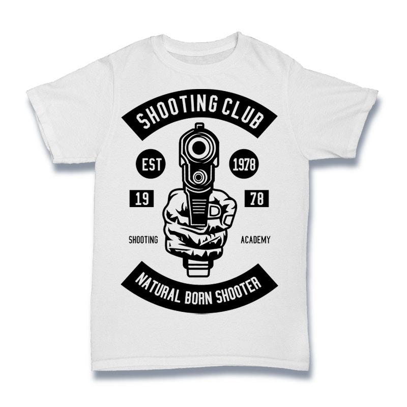 Shooting Club Tshirt Design tshirt designs for merch by amazon