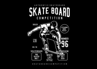Skateboard Competition Tshirt Design