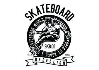 Skateboard Rebellion Tshirt Design