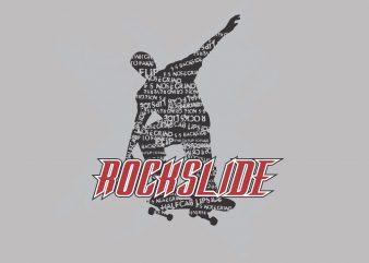 Rock Slide vector t-shirt design for commercial use