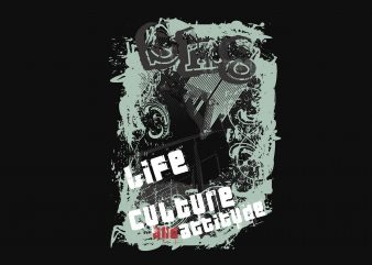 Life Culture Attitude t shirt design for purchase