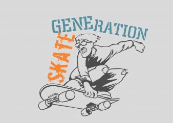 Skate Generation t shirt template vector
