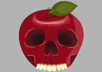 Skull Apple Tshirt Design