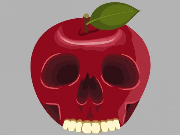 Skull Apple Tshirt Design