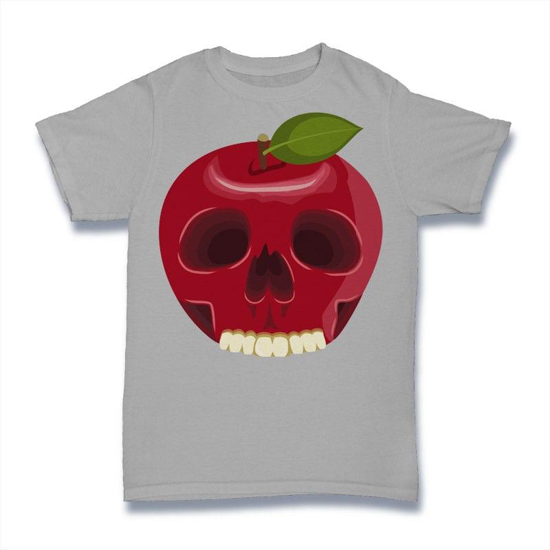 Skull Apple Tshirt Design t shirt designs for sale