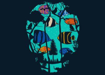 Skull Fish Tshirt Design