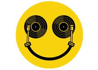 Smile DJ Tshirt Design