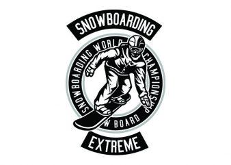 Snowboard Tshirt Design