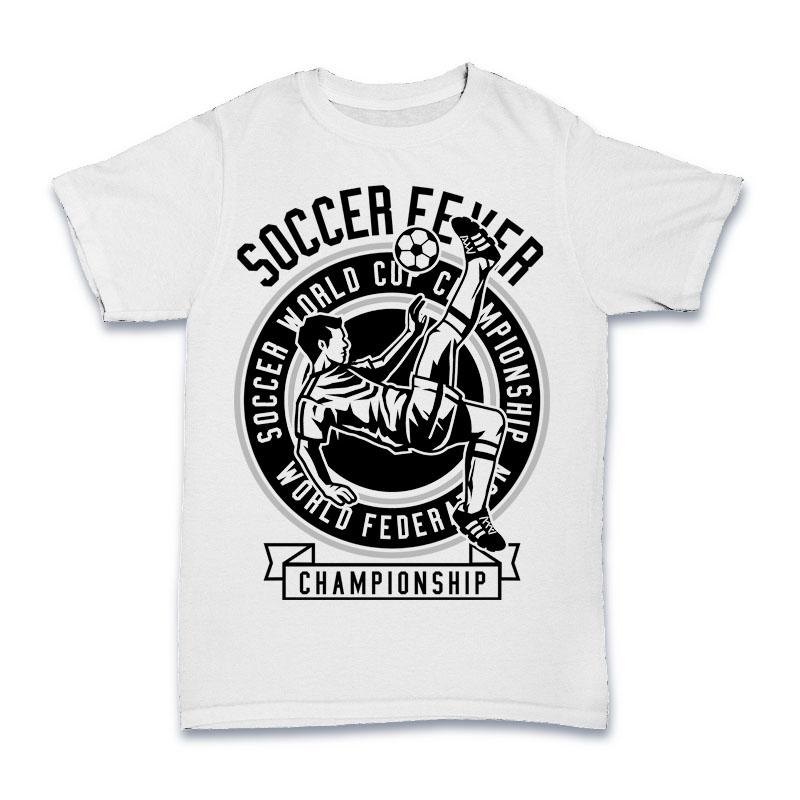Soccer Fever Tshirt Design tshirt factory