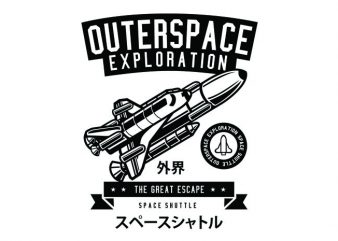 Space Shuttle Tshirt Design