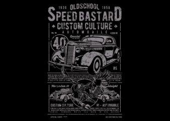 Speed Bastard Vector t-shirt design