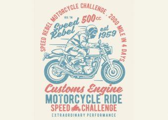 Speed Rebel Vector t-shirt design