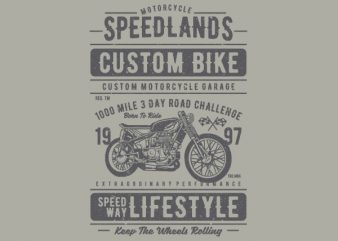 Speedlands Custom Bike Graphic t-shirt design