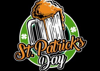 St Patrick Day Logo vector t-shirt design