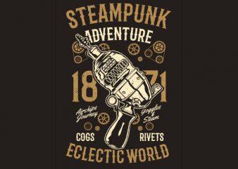 Steampunk Adventure Vector t-shirt design