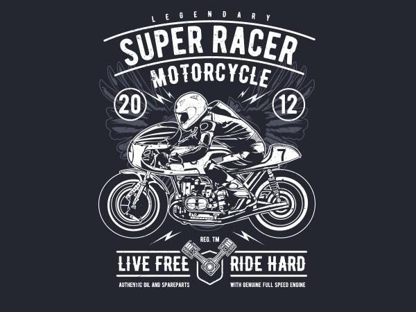 Super Racer Motorcycle Vector t-shirt design